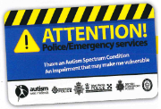 Autism Attention Card