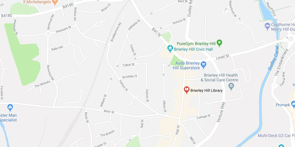 Brierey Hill Library Map