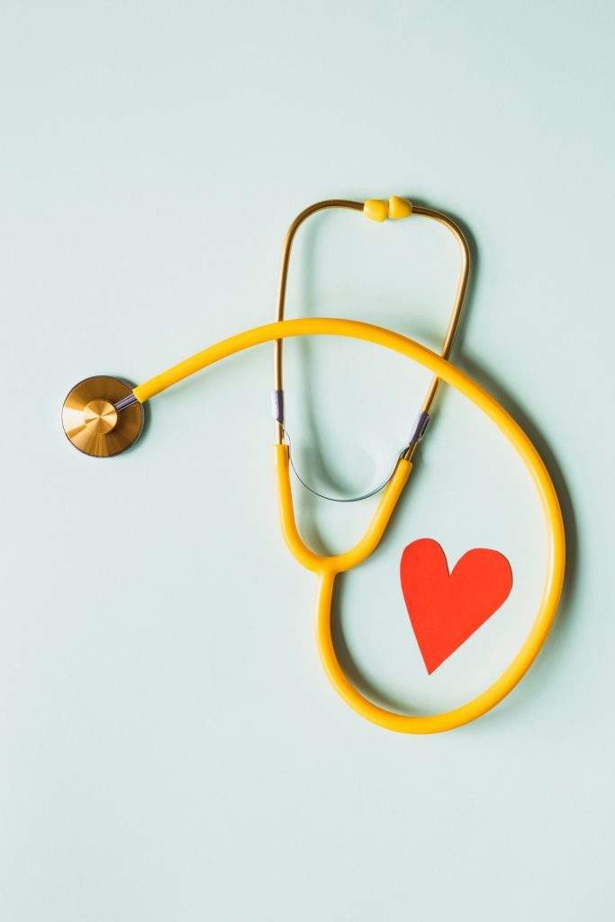 Medical Stethoscope With A Red Card Heart 683x1024